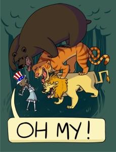 Lions & Tigers & Bears Artwork
